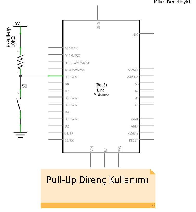 Pull Up Devre Şeması